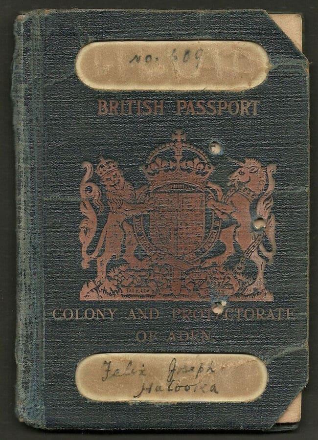 паспорт протектората аден