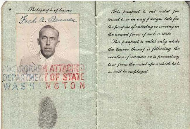 паспорт американского моряка