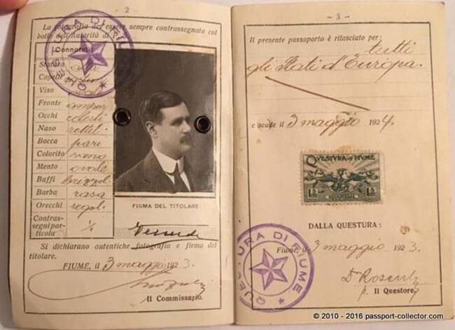 паспорт свободного города фиуме