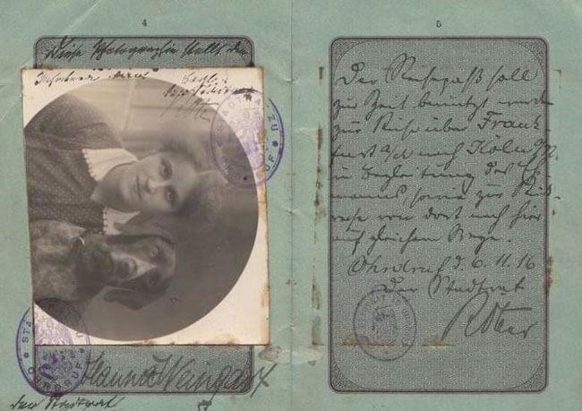 паспорт германской империи