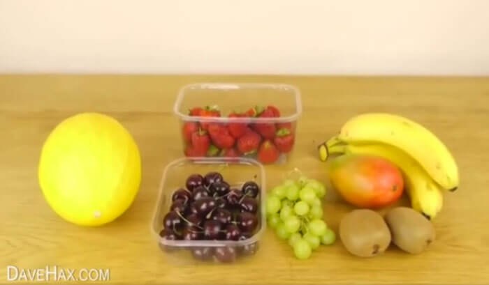 как быстро нарезать фрукты